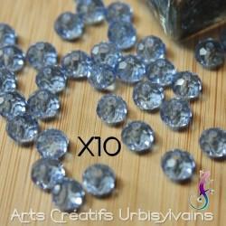 Lot de 10 perles 8x6 mm en...
