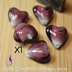 Perle coeur pendentif en...