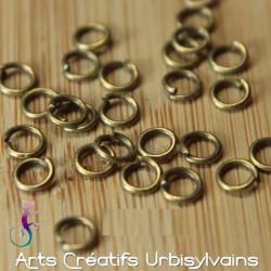 25 anneaux simples 5mm...
