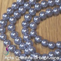 10 perles nacrées rondes...