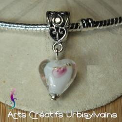 Pendentif charms coeur en...