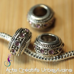 perle en métal argent...