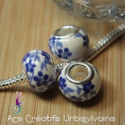 Perles en céramique décor...
